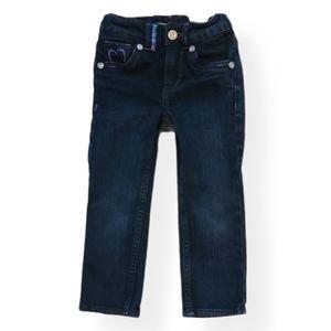 Levi's slim straight adjustable blue jeans size 2T